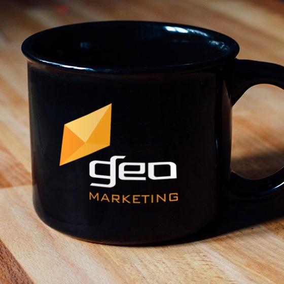 Geo Marketing Black Coffee Mug thumb light